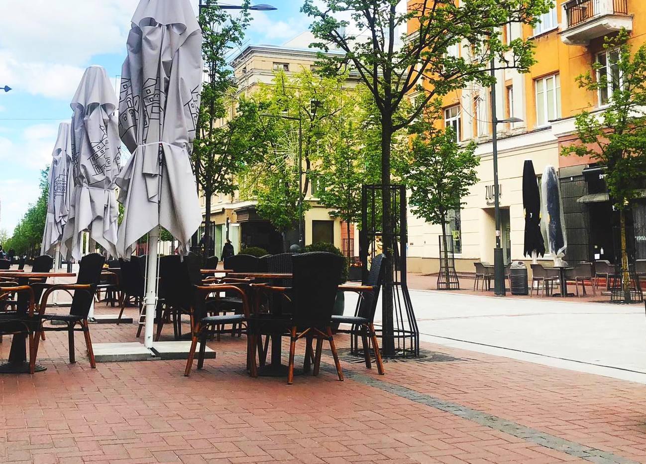 Šiaulių taryba nusprendė: atšaukta rinkliava lauko kavinėms