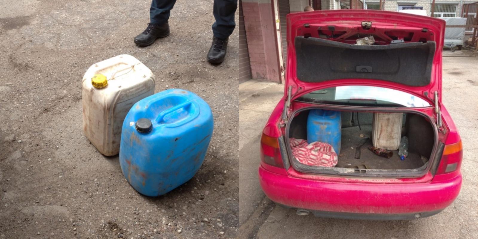 Pajūrio miestelyje sustabdytas automobilis: rasta naminės degtinės