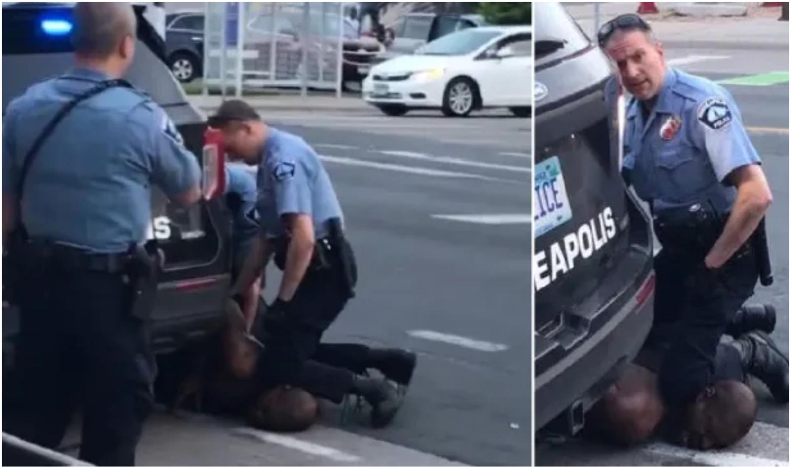 Dar vienas policijos brutalumo atvejis: pareigūno prispaustas juodaodis mirė maldaudamas oro (vaizdo įrašas)