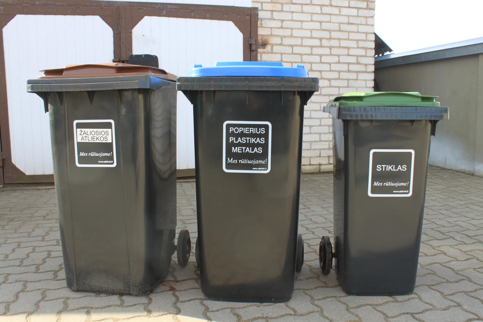 Nauja tvarka įmonėms:  nerūšiuoji tinkamai – gausi mažesnį konteinerį