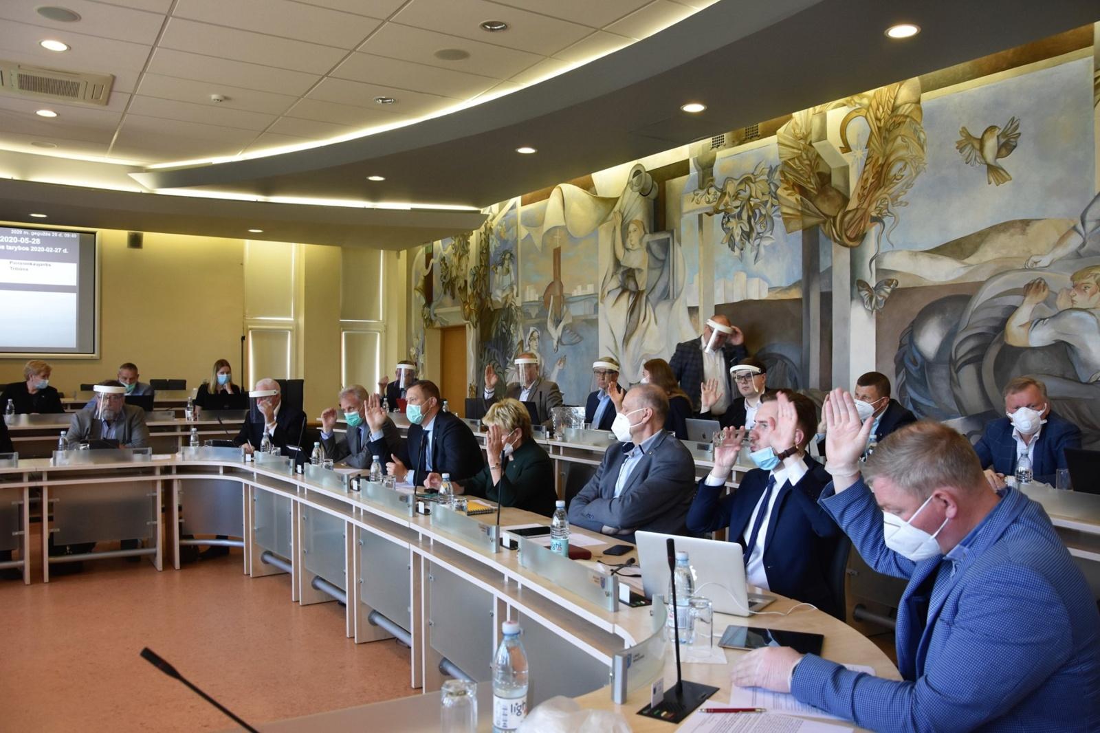 Tarybos posėdyje pritarta 31 sprendimo projektui