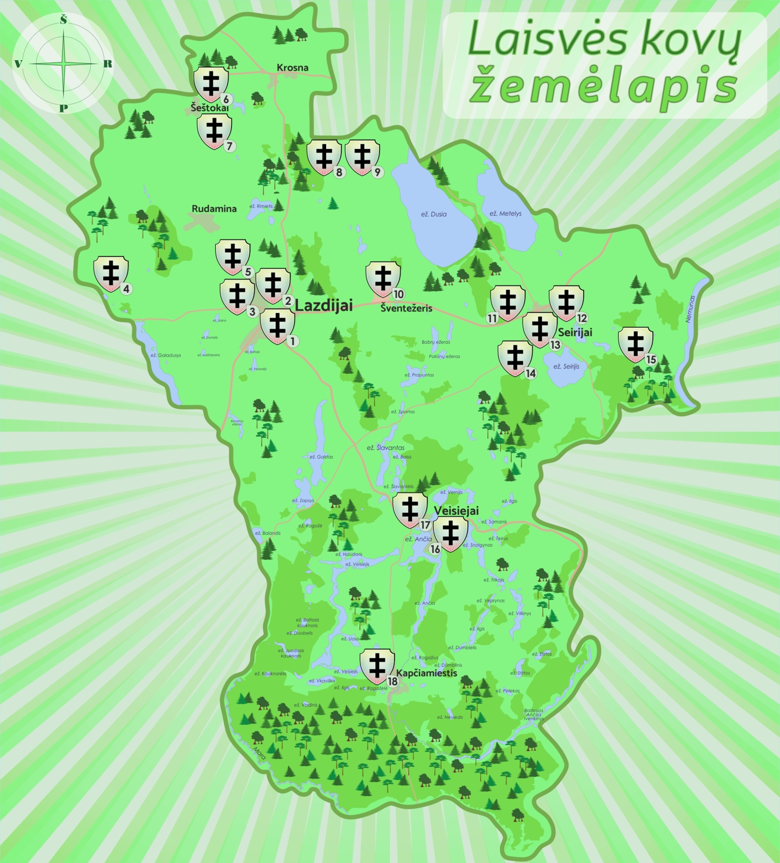 Lazdijų krašto Laisvės kovų žemėlapis