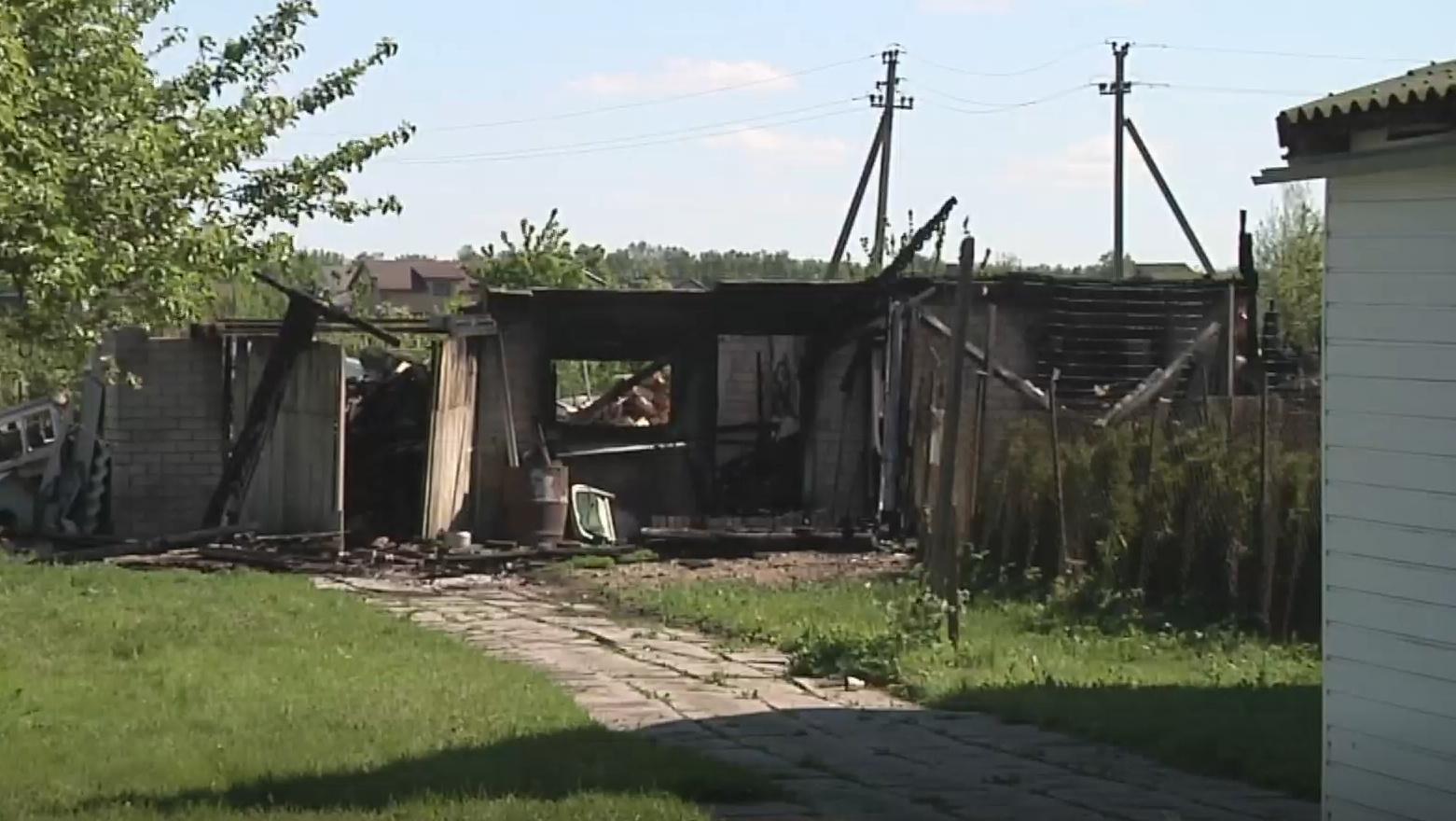 Kauno rajone sudegė ūkinis pastatas su gyvuliais (vaizdo įrašas)