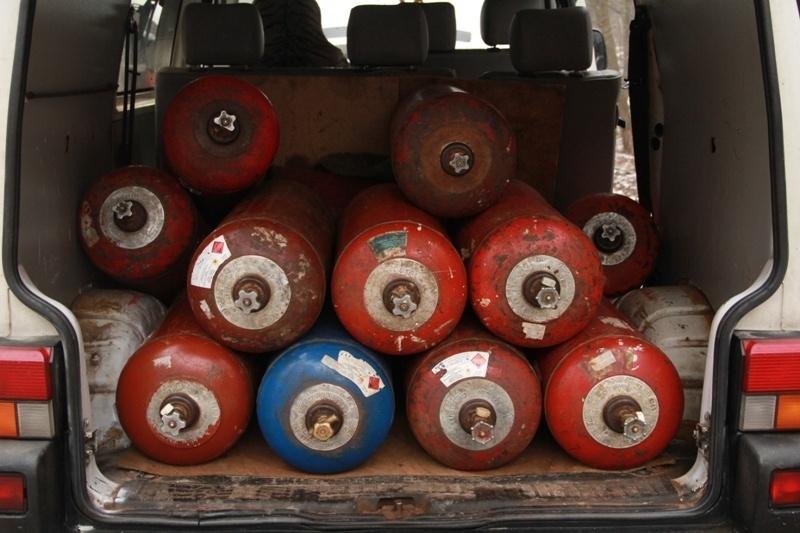 Druskininkuose likviduojami dujų balionai