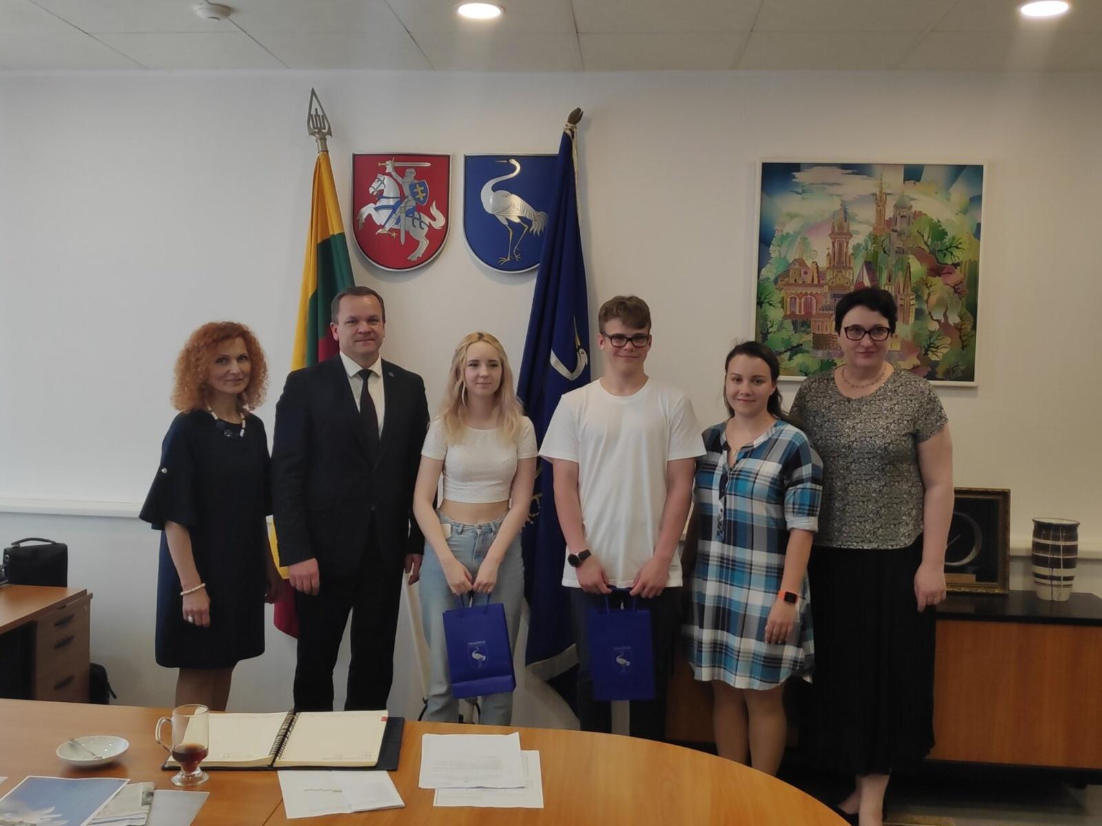 Savivaldybėje – susitikimas su jaunimo atstovais