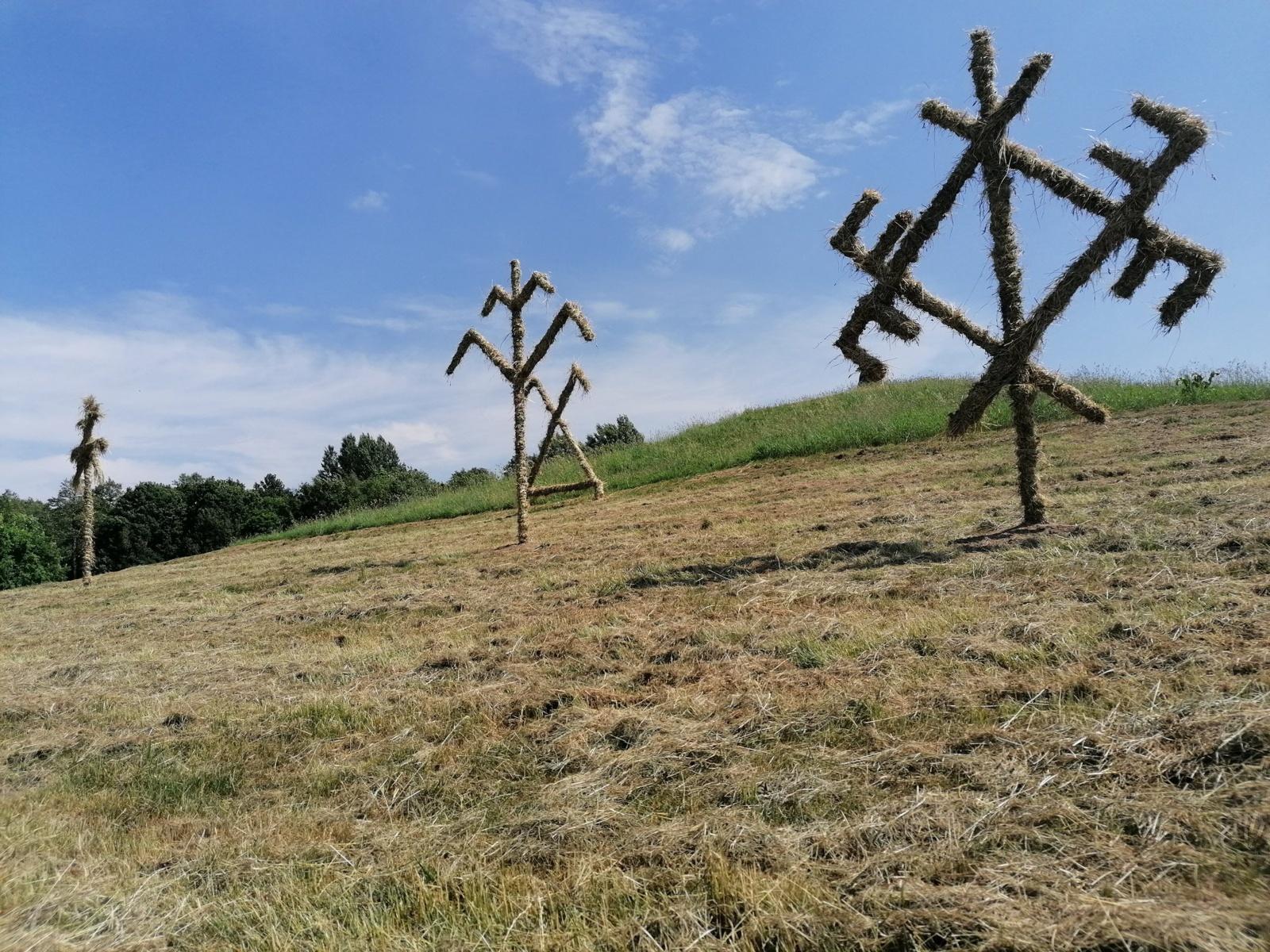 Rietavo parke iškilo Joninių simboliai
