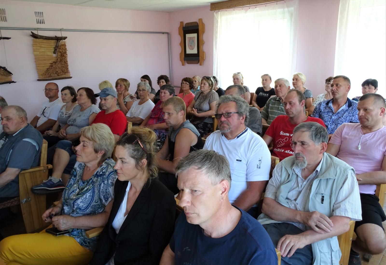Susitikimuose su gyventojais aptarta dabartinė situacija ir spręsti įvairūs klausimai