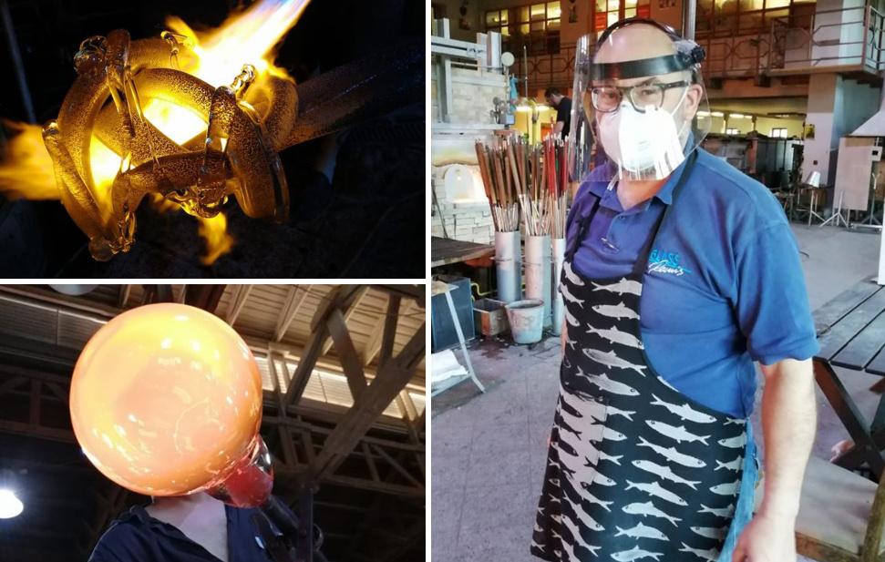 Panevėžietis stiklo menininkas R. Kriukas kuria Čekijoje