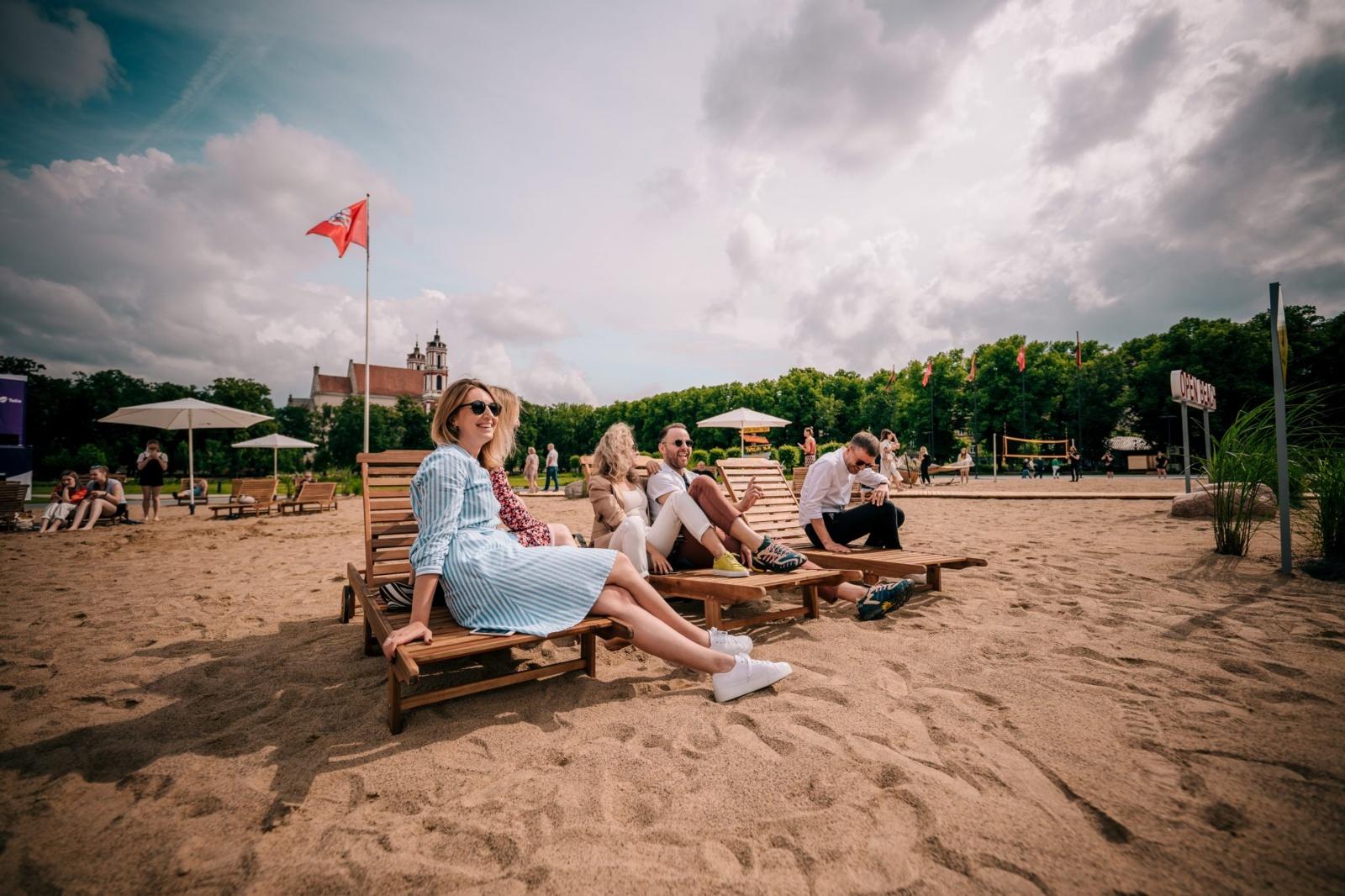 Paplūdimys Lukiškių aikštėje kelia epidemiologinę riziką