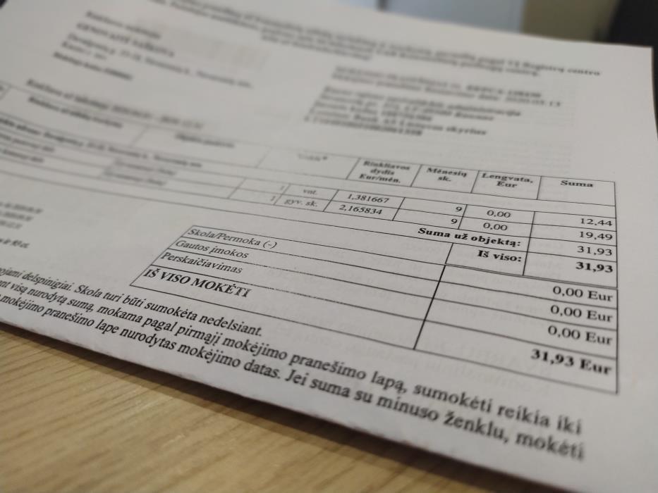 Atidėtas sąskaitų išrašymas Kauno rajone registruotoms įmonėms