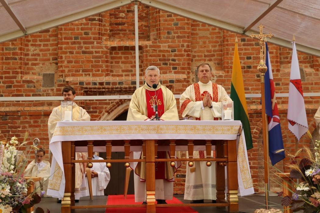 Valstybės dieną atnaujinta Zapyškio Šv. Jono Krikštytojo bažnyčia