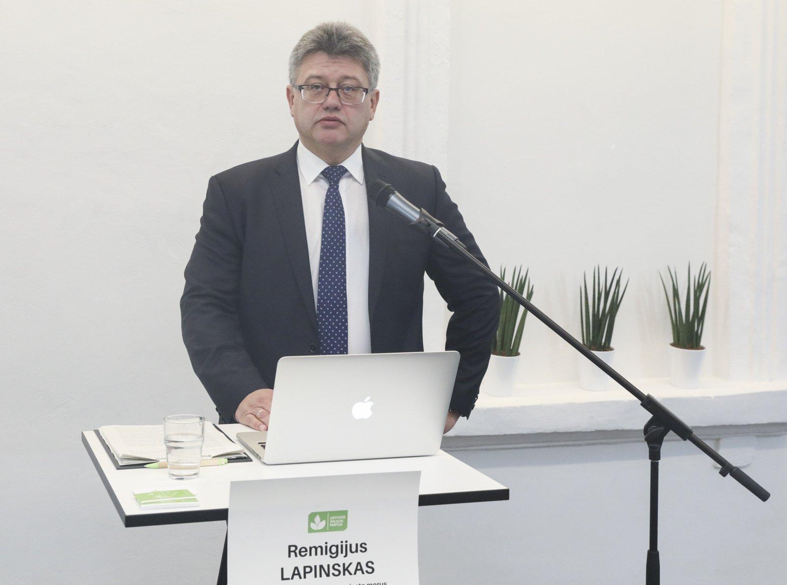 Lietuvos žaliųjų partiją į Seimo rinkimus ves jos pirmininkas R. Lapinskas