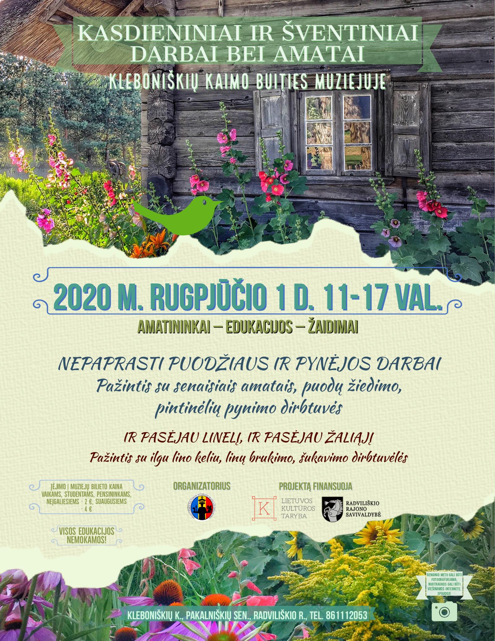 Artėjantį savaitgalį Radviliškio rajone – ir koncertai, ir edukacijos, ir net šaltibarščiai