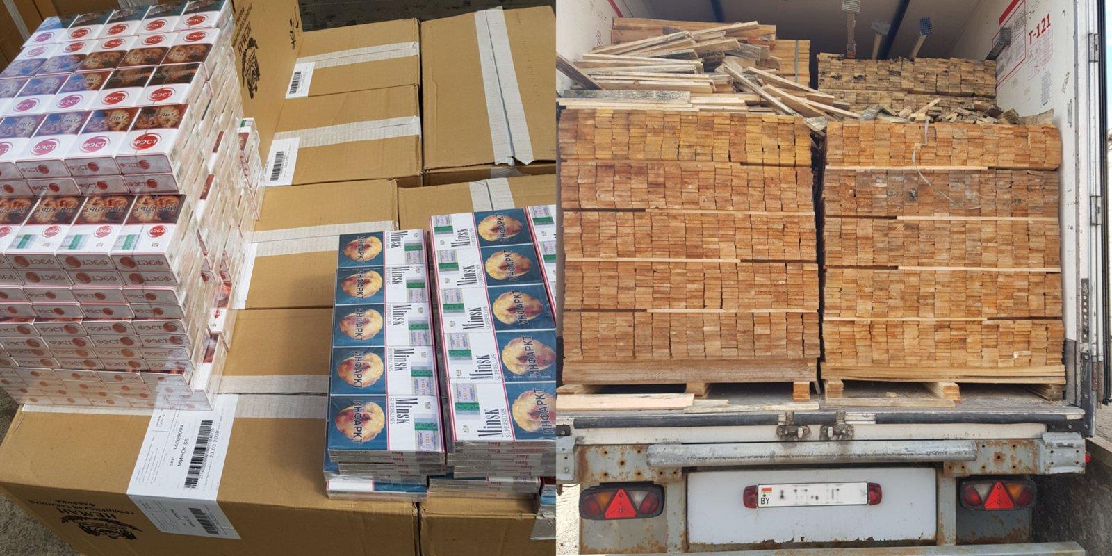 Pasieniečiai dviejuose vilkikuose aptiko daugiau 1,8 mln. eurų vertės kontrabandos