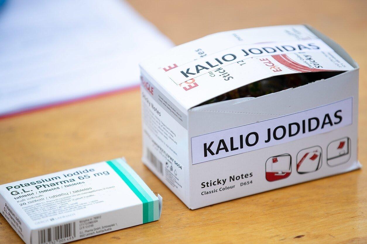 Vilniaus miesto gyventojai pildo savo vaistinėles kalio jodido tabletėmis