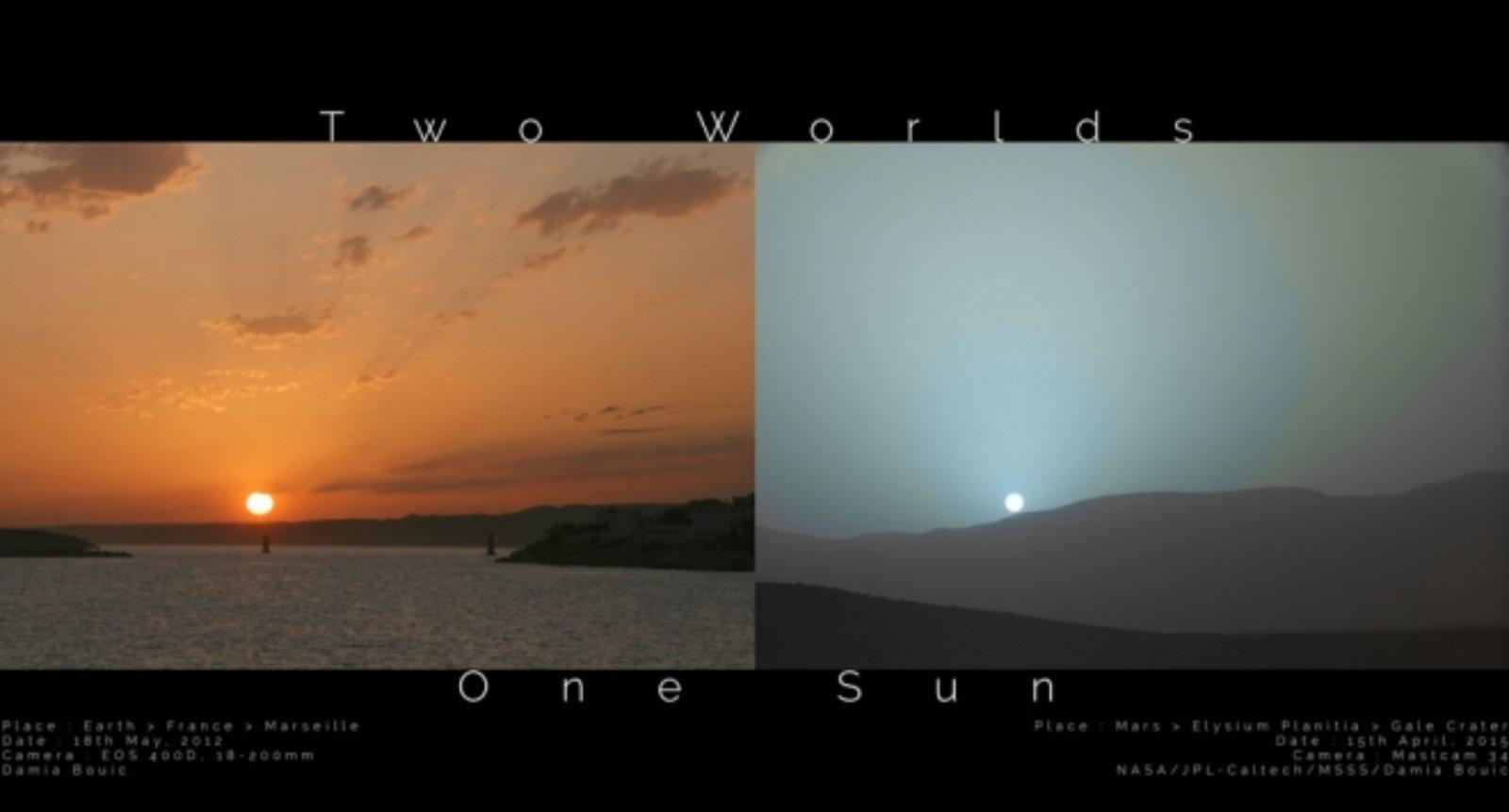 Du pasauliai, viena Saulė: kuo skiriasi saulėlydžiai Marse ir Žemėje?