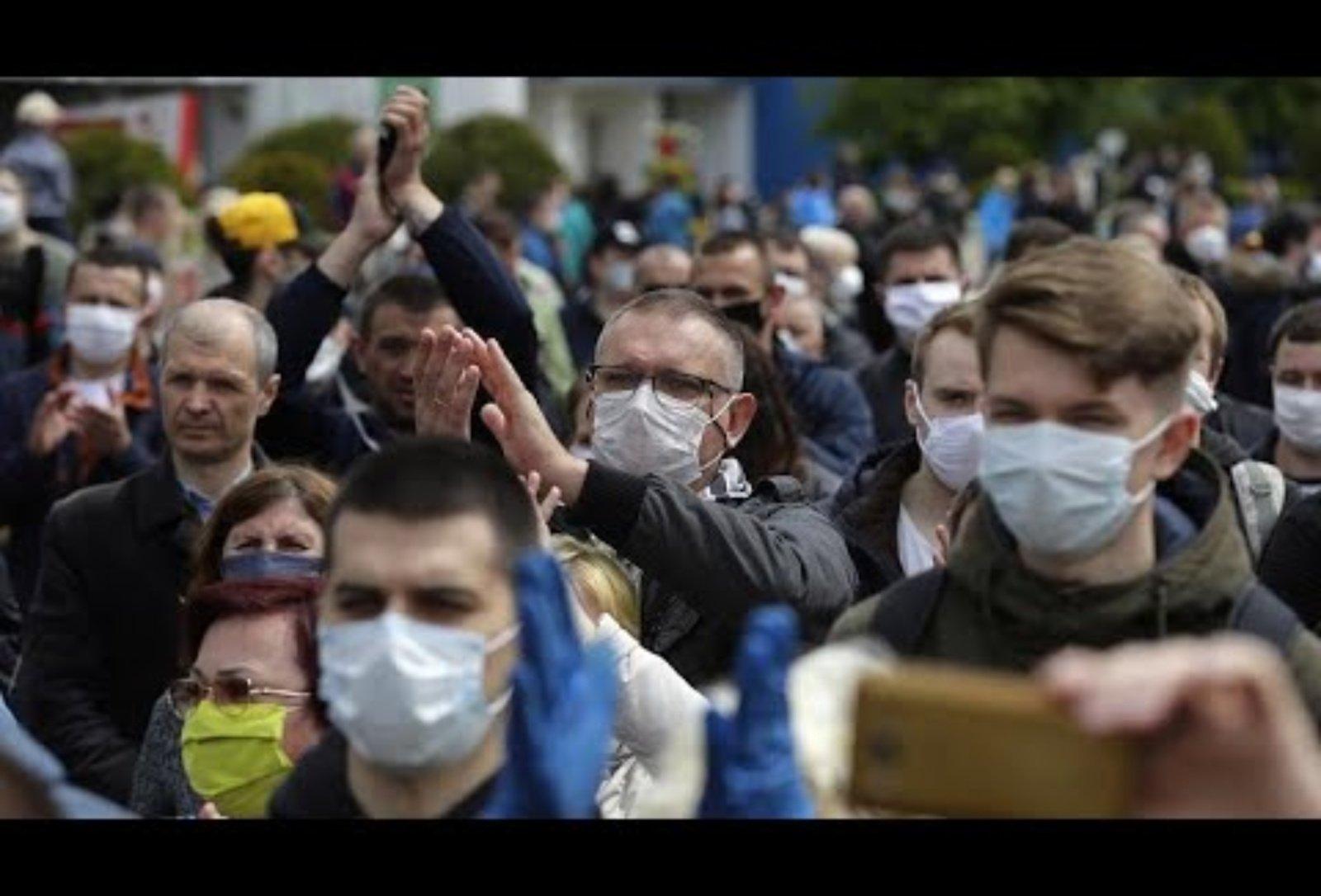 Baltarusijoje penktadienį tęsiasi protesto akcijos