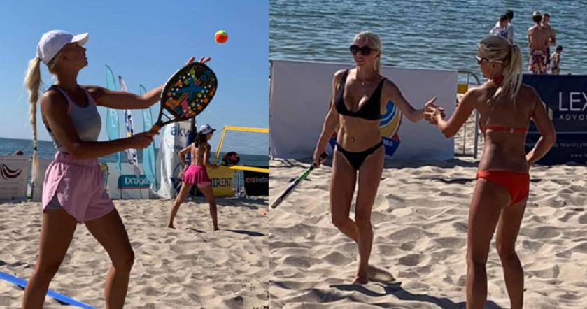 Paplūdimio teniso turnyre - azartas, įdegę kūnai ir gražios kovos