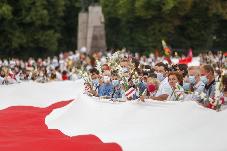 Simbolika: po 31 metų savo laisvės – į Laisvės kelią už Baltarusiją