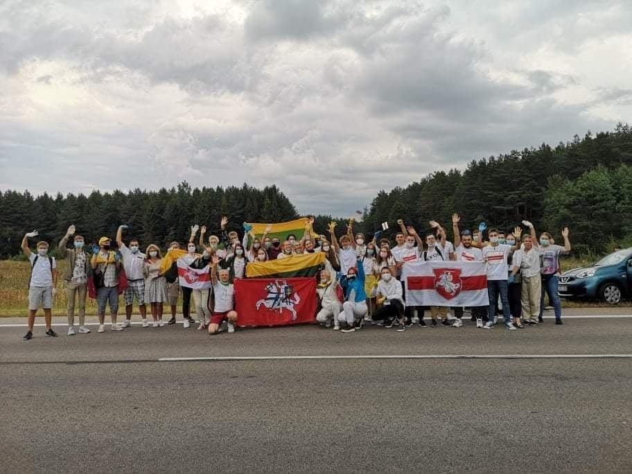 """Klaipėdiečiai prisijungė prie solidarumo akcijos – """"Laisvės kelias"""""""