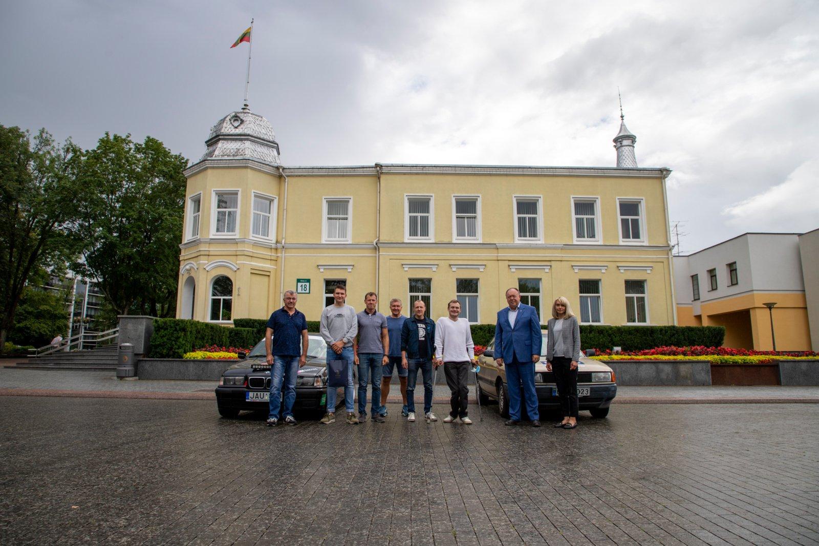 """Išlydėti """"Aplink Lietuvą 2020"""" dalyvaujantys druskininkiečiai"""