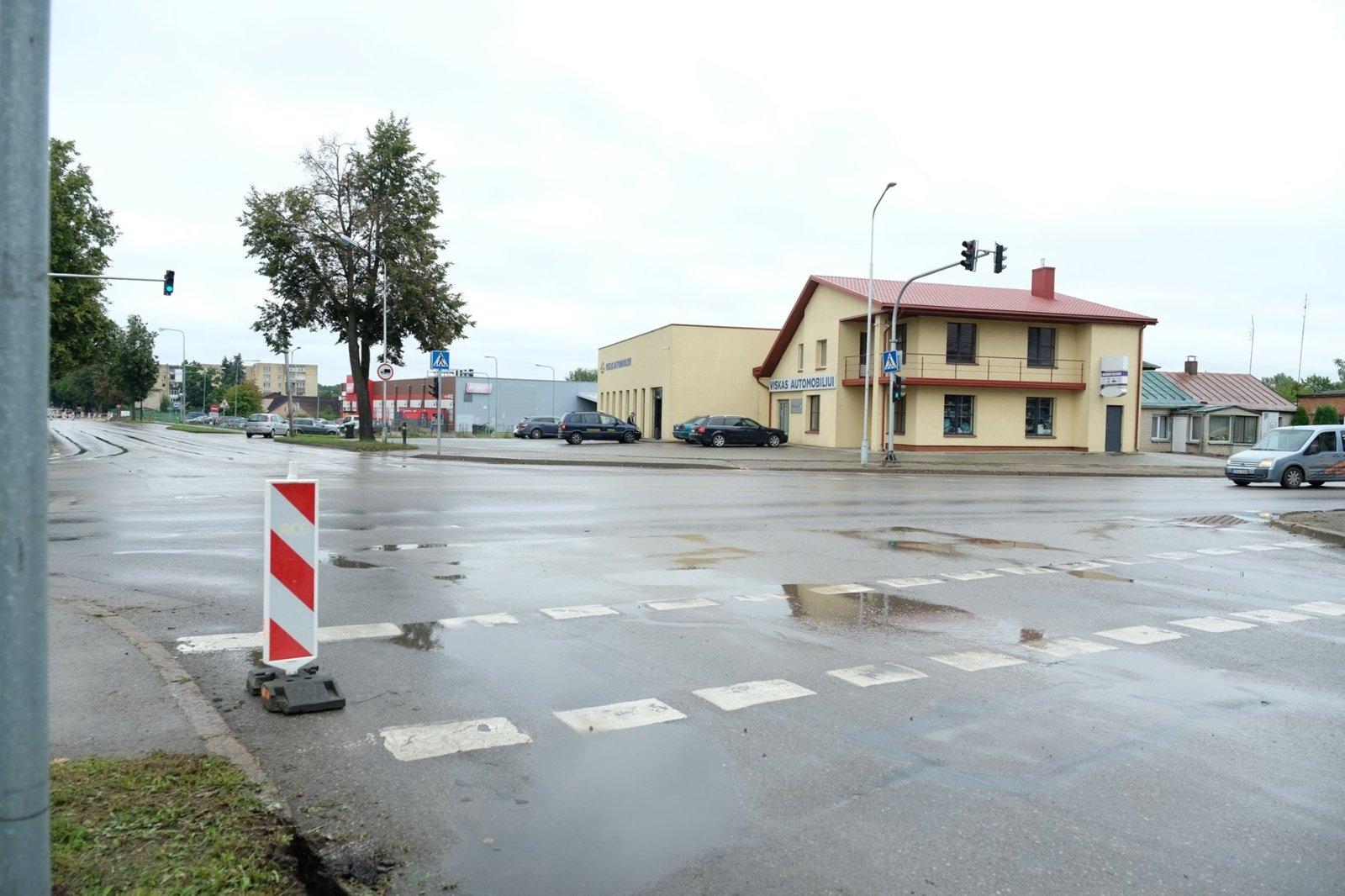 Prasideda Ulonų, Pulko ir Santaikos gatvių sankryžos rekonstravimo darbai