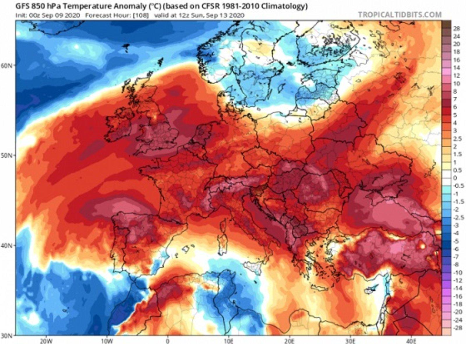 Bobų vasaros ženklai: virš Europos formuojasi ekstremali rudens karščio banga