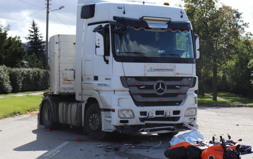 Ukmergėje per avariją žuvo motociklo vairuotojas