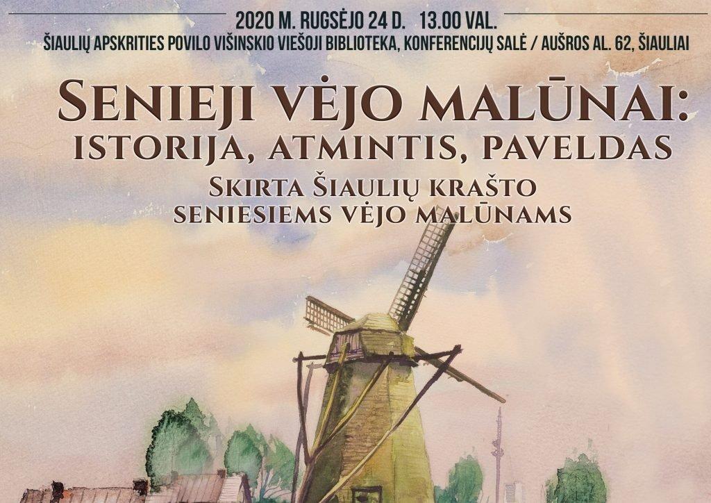 """Konferencija """"Senieji vėjo malūnai: istorija, atmintis, paveldas"""""""