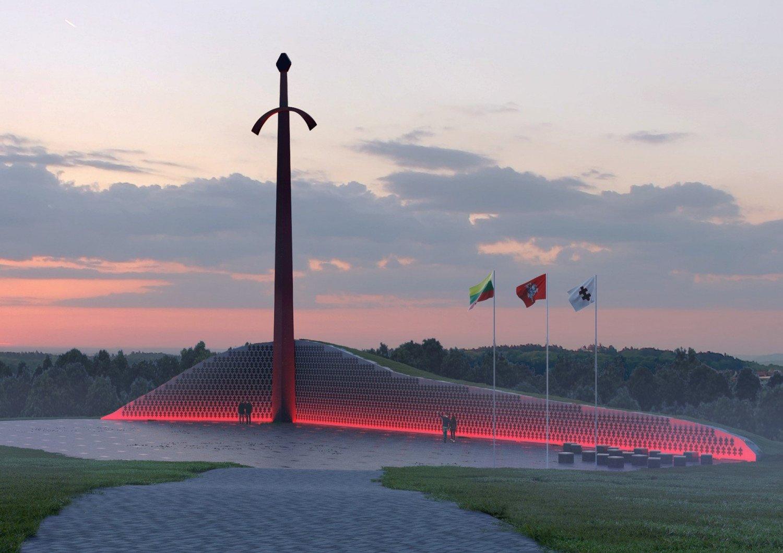 Kryžkalnyje atidengiamas memorialas Lietuvos partizanams