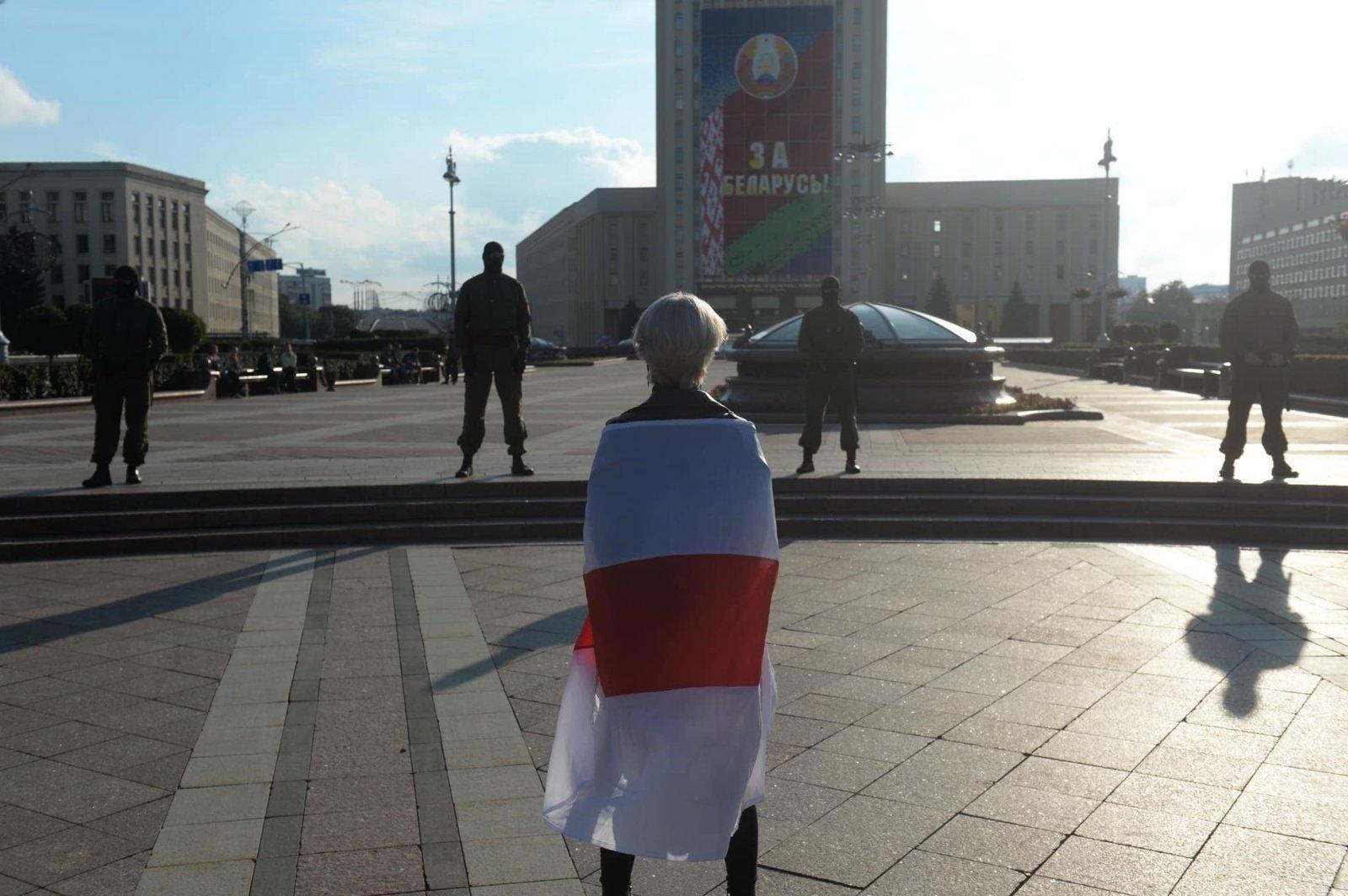 Baltarusijos VRM patvirtino naudojusi specialiąsias priemones prieš protestuotojus
