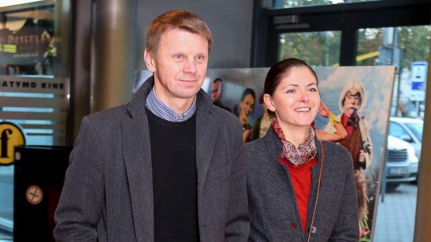 Aktorius R. Kazlas skiriasi su žmona