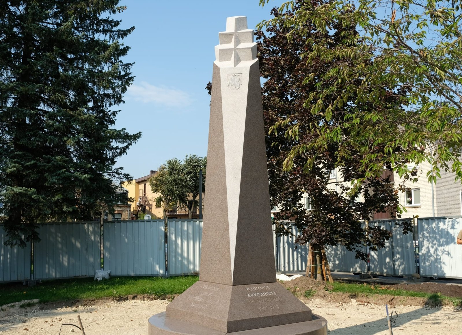 Alytuje pastatytas paminklas Dainavos apygardos partizanams