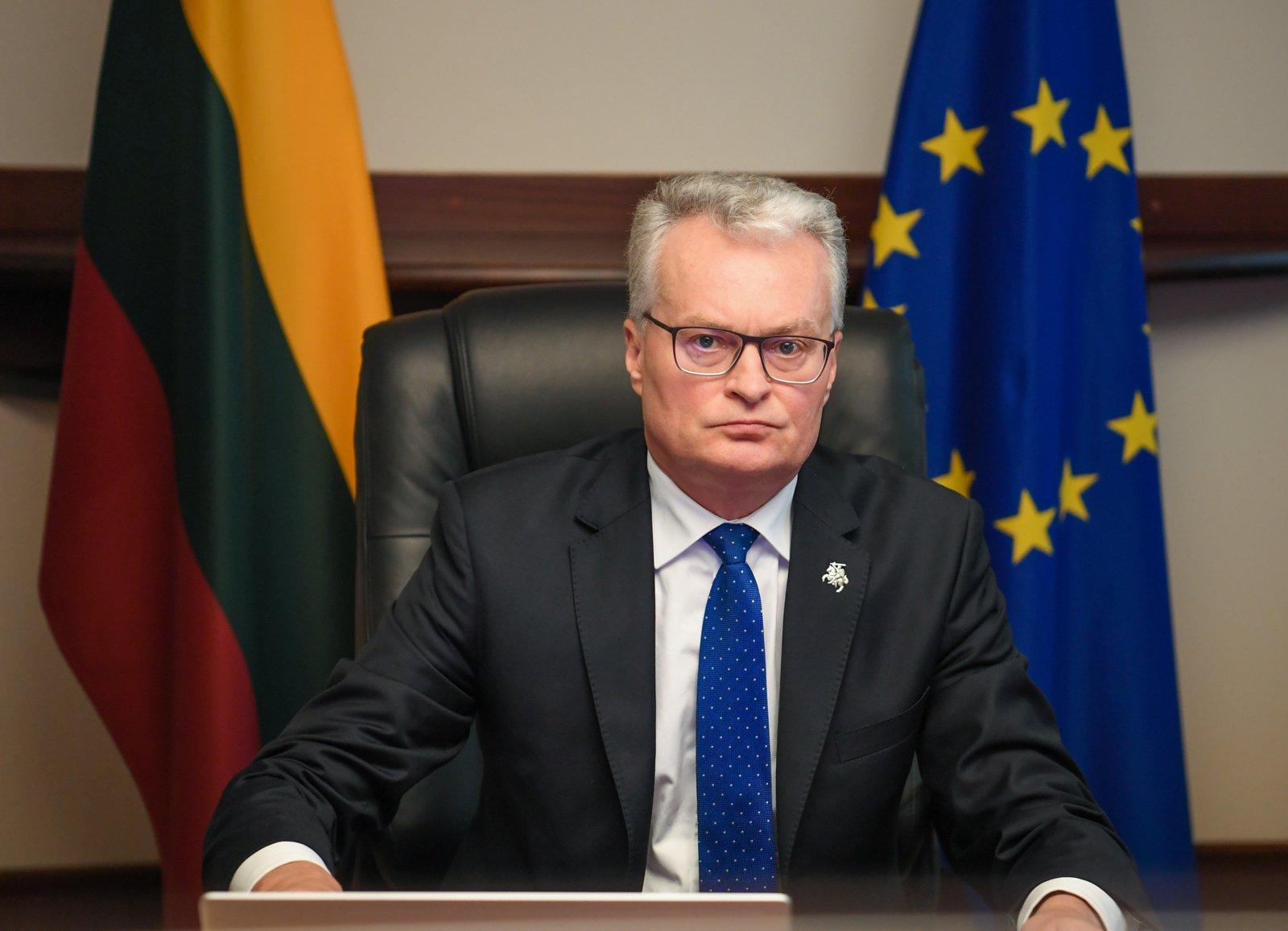 G. Nausėda apie E. Macrono reikštas ambicijas atnaujinti dialogą su Rusija: mes esame realistai