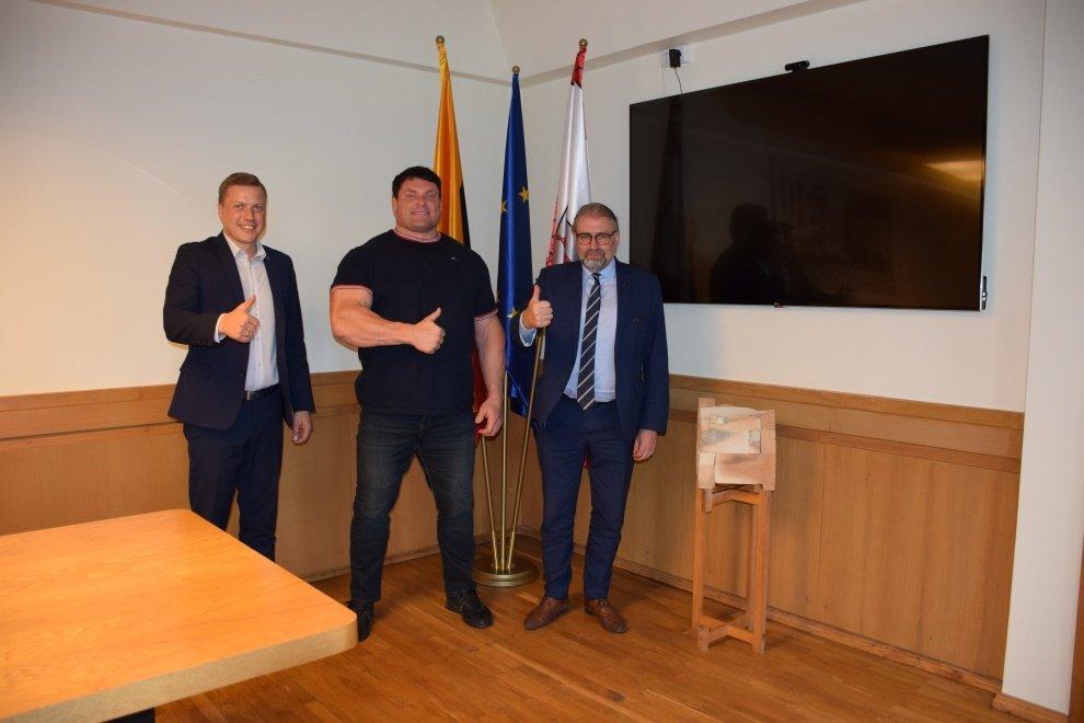 Panevėžio savivaldybėje lankėsi Ž. Savickas
