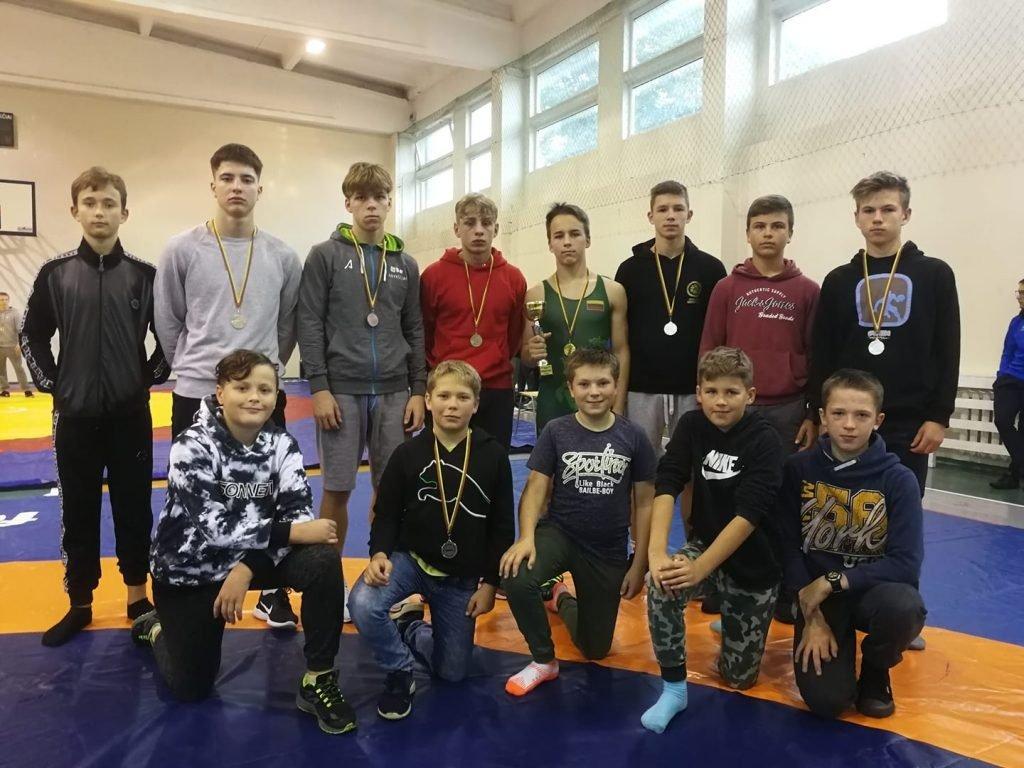 Anykščių imtynininkai iškovojo septynis medalius