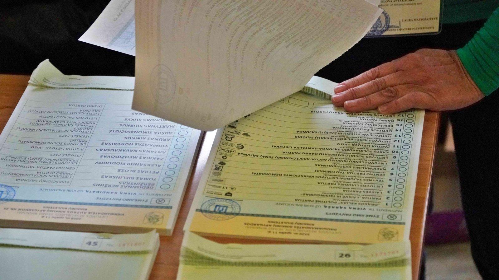 Seimo rinkimuose jau balsavo 12,43 proc., pridėjus išankstinį balsavimą – 23,72 proc. rinkėjų