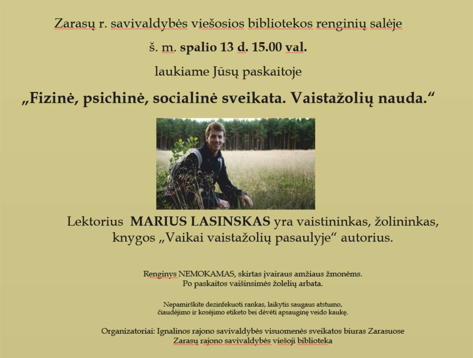 Paskaita su žolininku Mariumi Lasinsku