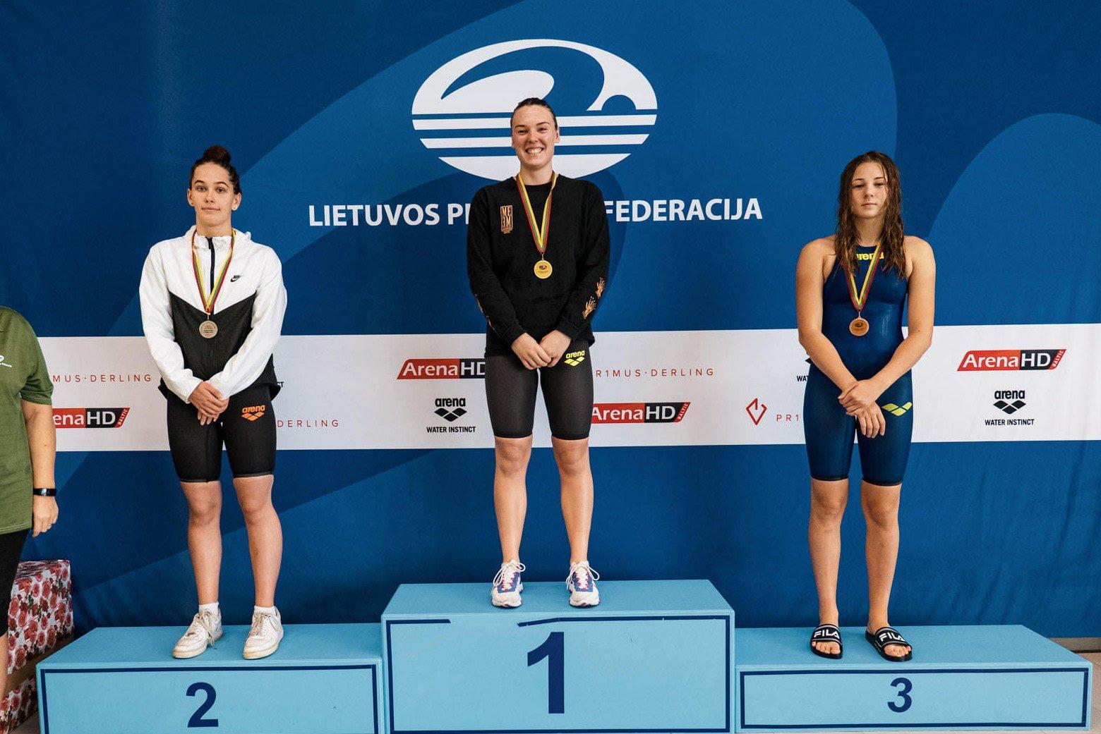 Plaukikė U. Mažutaitytė tapo čempione Vilniuje