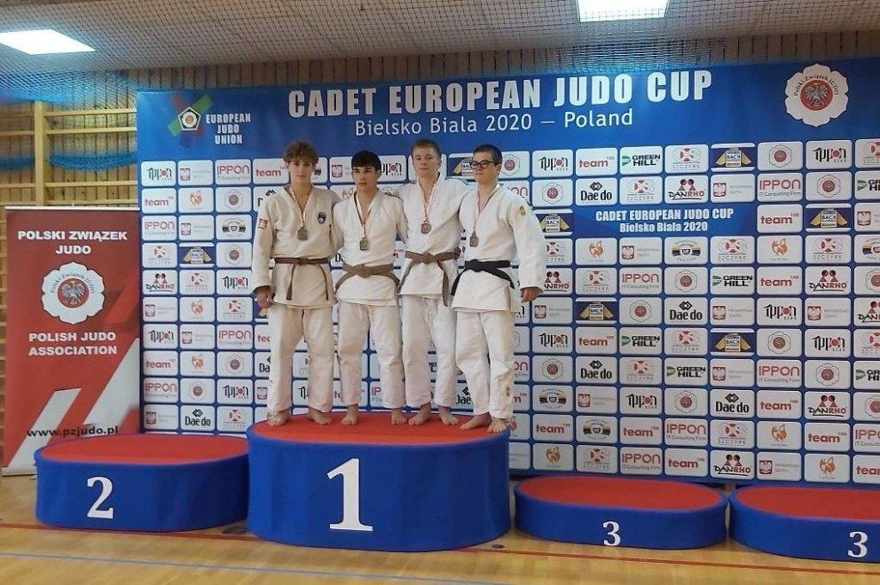 Europos dziudo jaunių taurės varžybose iškovotas bronzos medalis