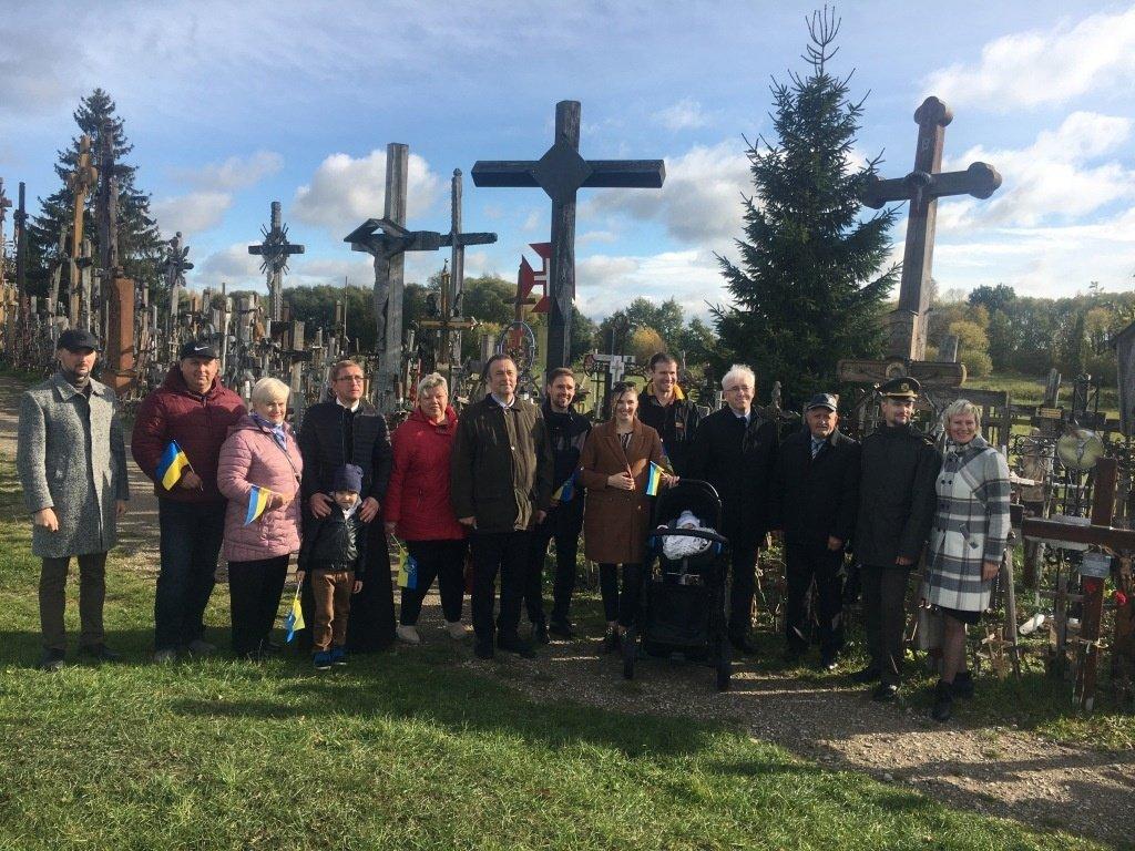 Ukrainos ambasadorius lankėsi Kryžių kalne