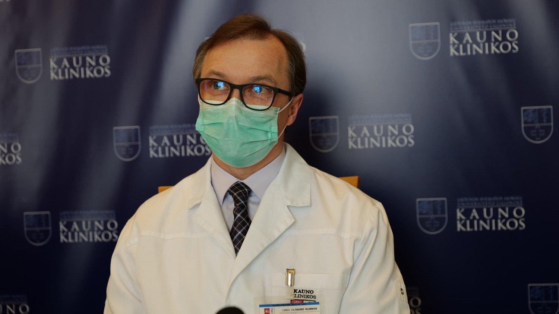 Kauno klinikų vadovas prof. R. Jurkevičius: stengiamės maksimaliai išsaugoti planines paslaugas