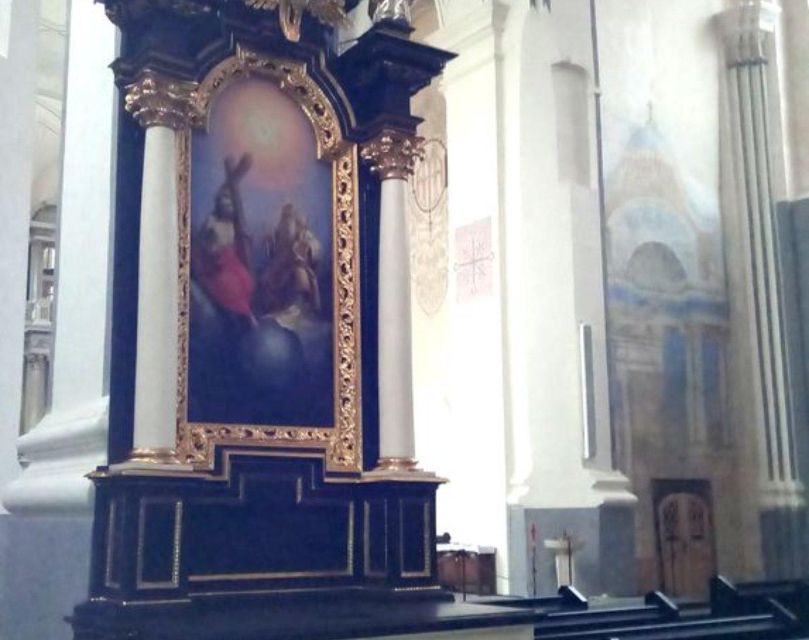 Kaune restauruotas itin vertingas brandžiojo baroko altorius