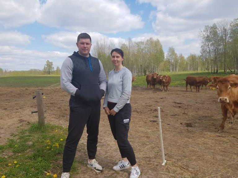 Indrė ir Justinas Petručiai patenkinti ūkininkavimo pradžios rezultatais