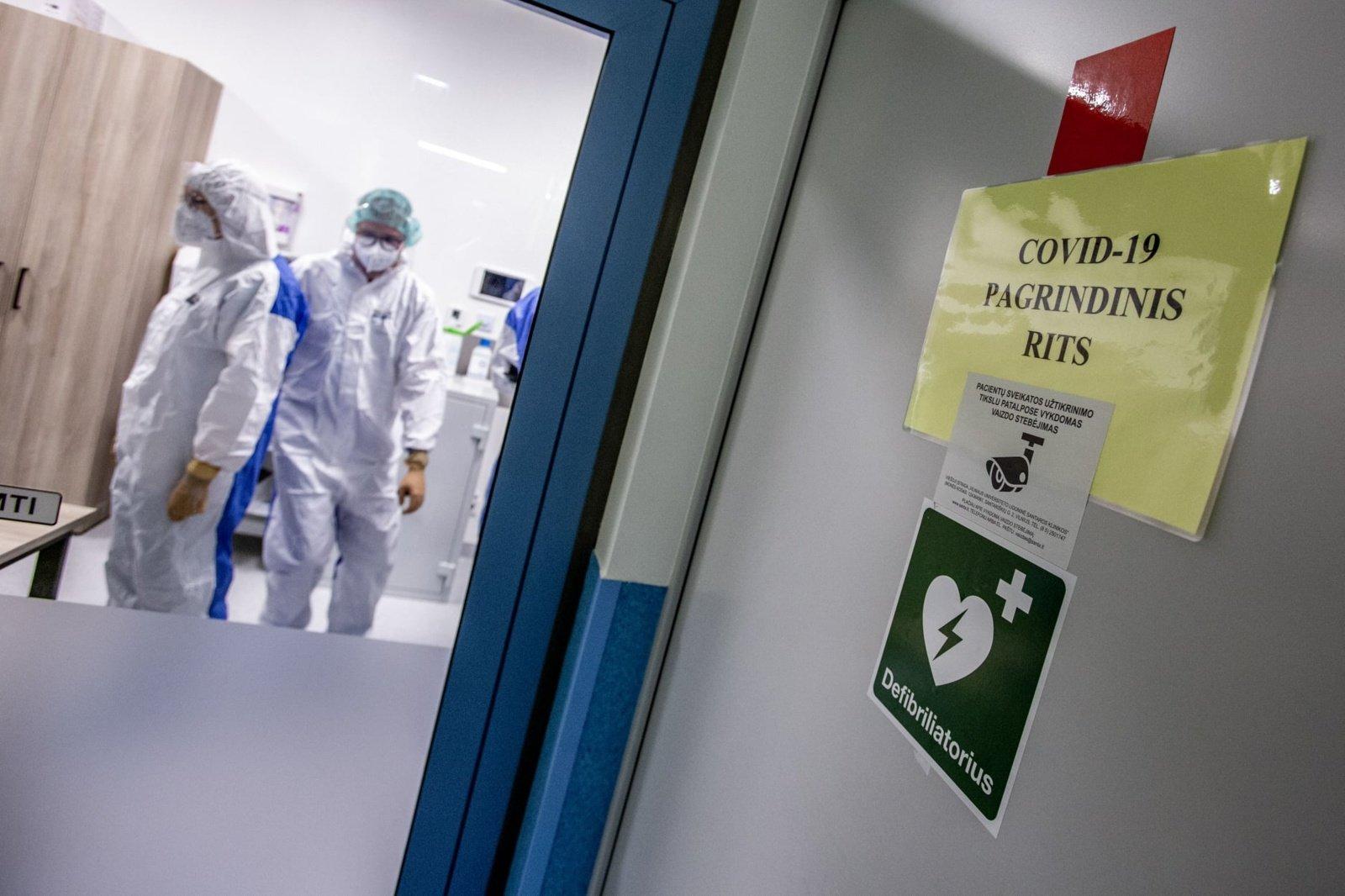 Vilniaus regione užimta apie 75 procentai lovų COVID-19 pacientams