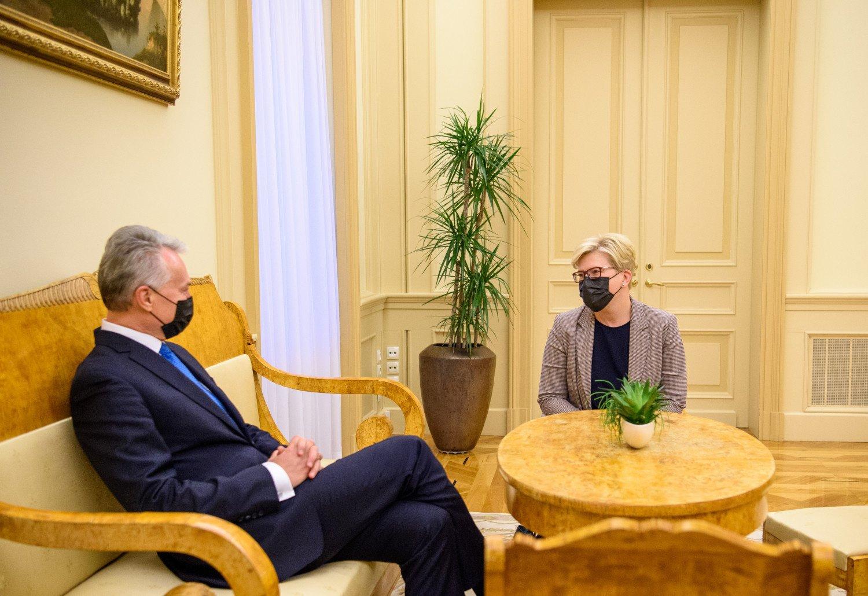 Prezidentas teikia I. Šimonytės kandidatūrą į ministro pirmininko pareigas