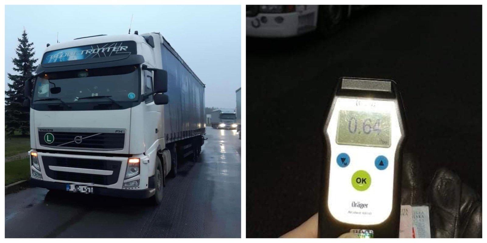 Praėjusią savaitę Marijampolės pareigūnams įkliuvo 12 neblaivių vilkikų vairuotojų