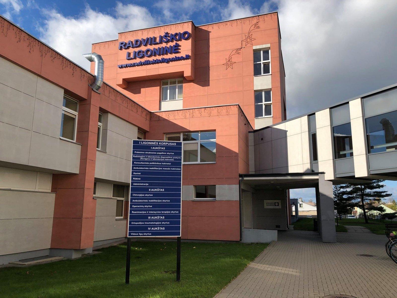 Radviliškio ligoninė priims COVID-19 sergančius ligonius