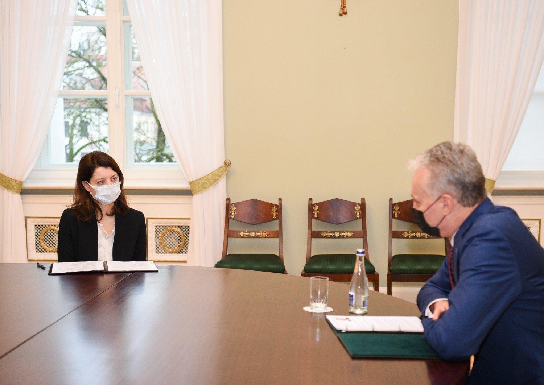 Prezidentūra po susitikimo su pretendente į ministres M. Navickiene: paliko gerą įspūdį kandidatės srities išmanymas