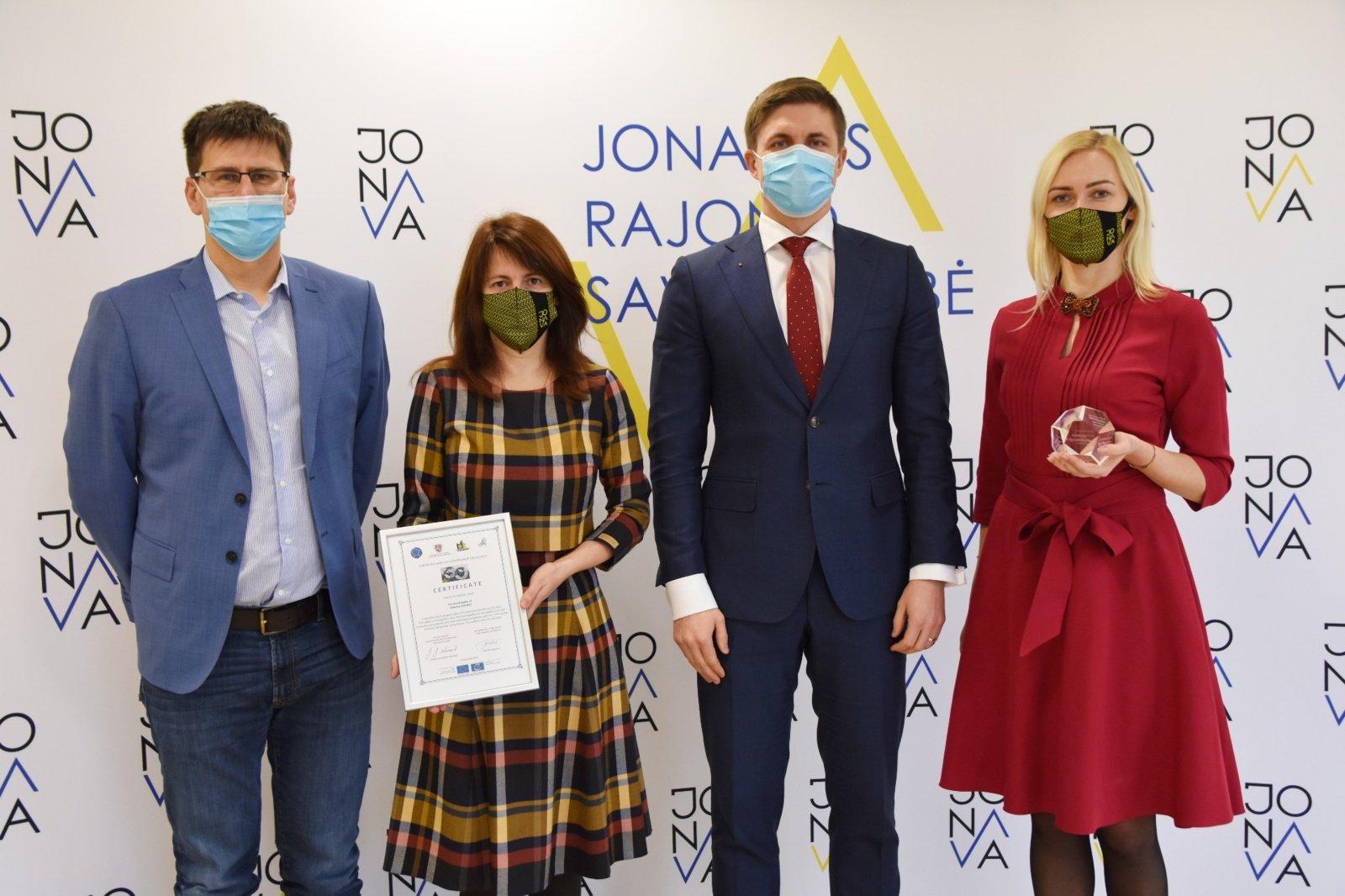 Jonavos rajono savivaldybei – Europos Tarybos ženklas už gerą valdymą